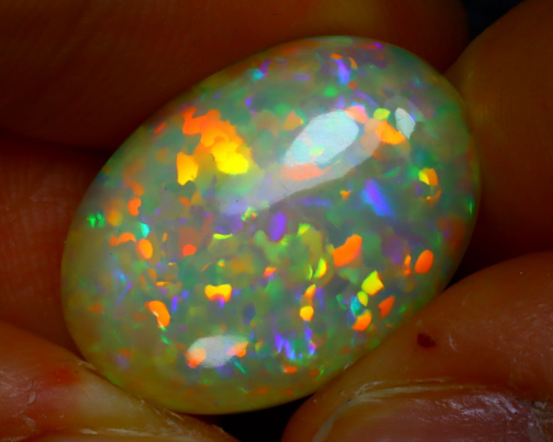 Welo Opal 8.93Ct Natural Ethiopian Play of Color Opal JR150/A55