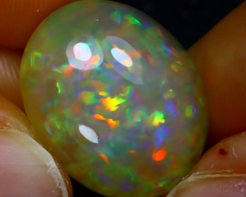 Welo Opal 14.37Ct Natural Ethiopian Play of Color Opal JR169/A55