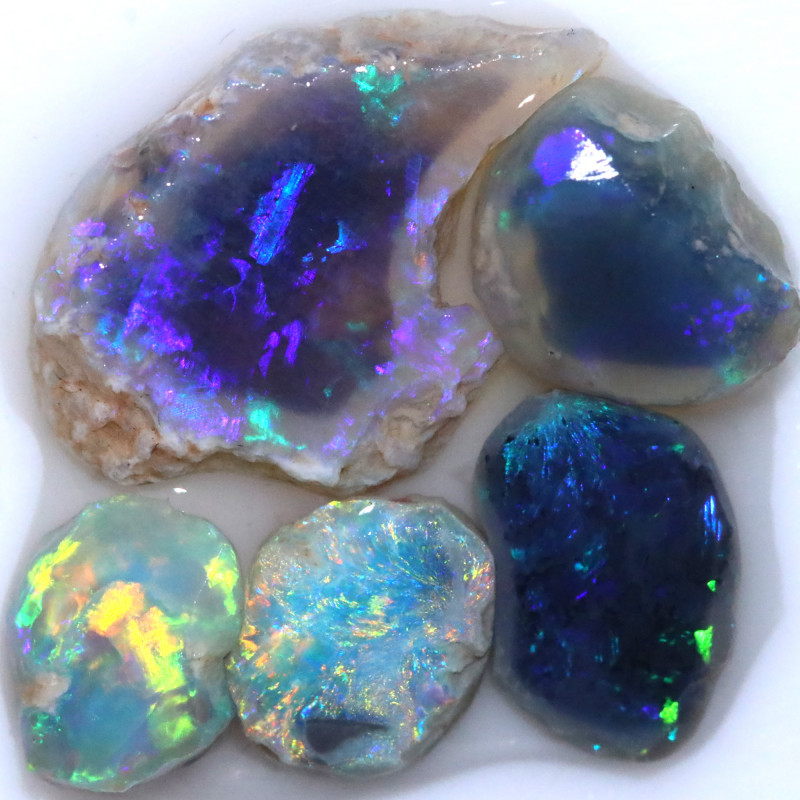 11.30 CTS BLACK OPAL RUB PRE FACED  [BR7944]