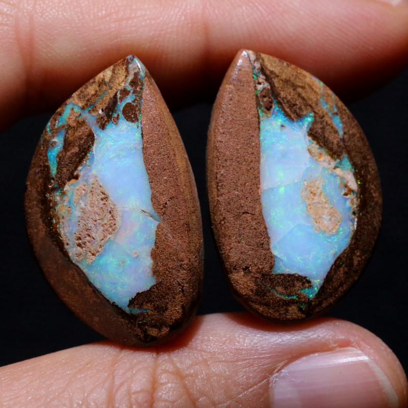44.89 CTS WELL POLISHED PAIR YOWAH STONES [FJP3706]