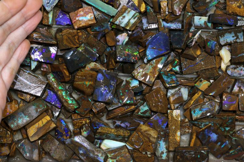 300 pcs Appro  Boulder Rough Sliced @$3.50 piece CH 627
