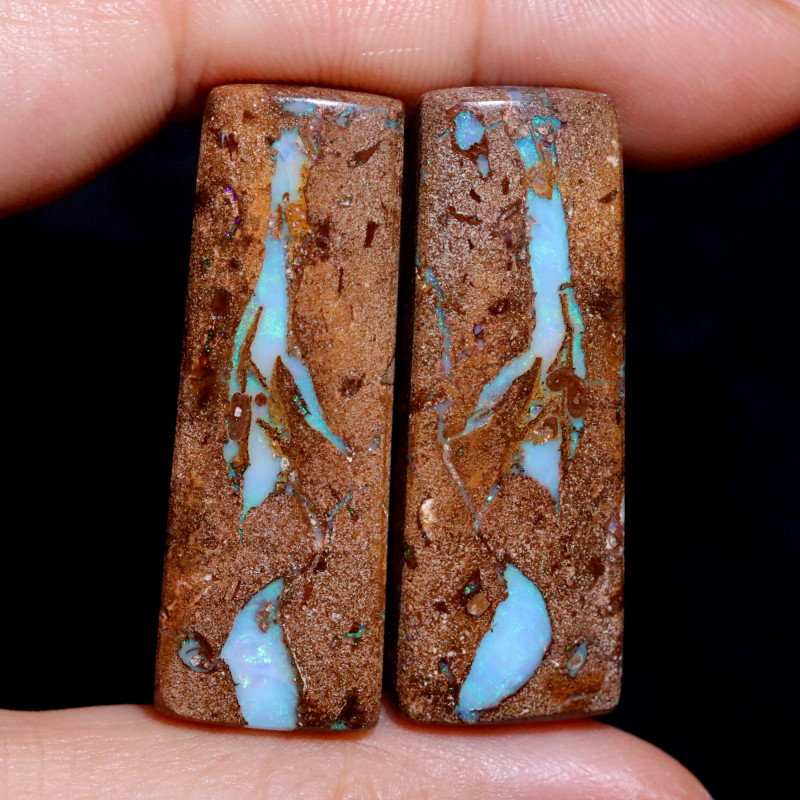 70.02 CTS WELL POLISHED PAIR YOWAH STONES [FJP3712]