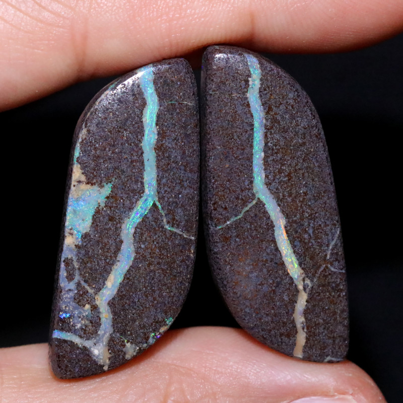 57.26 CTS WELL POLISHED PAIR YOWAH STONES [FJP3723]