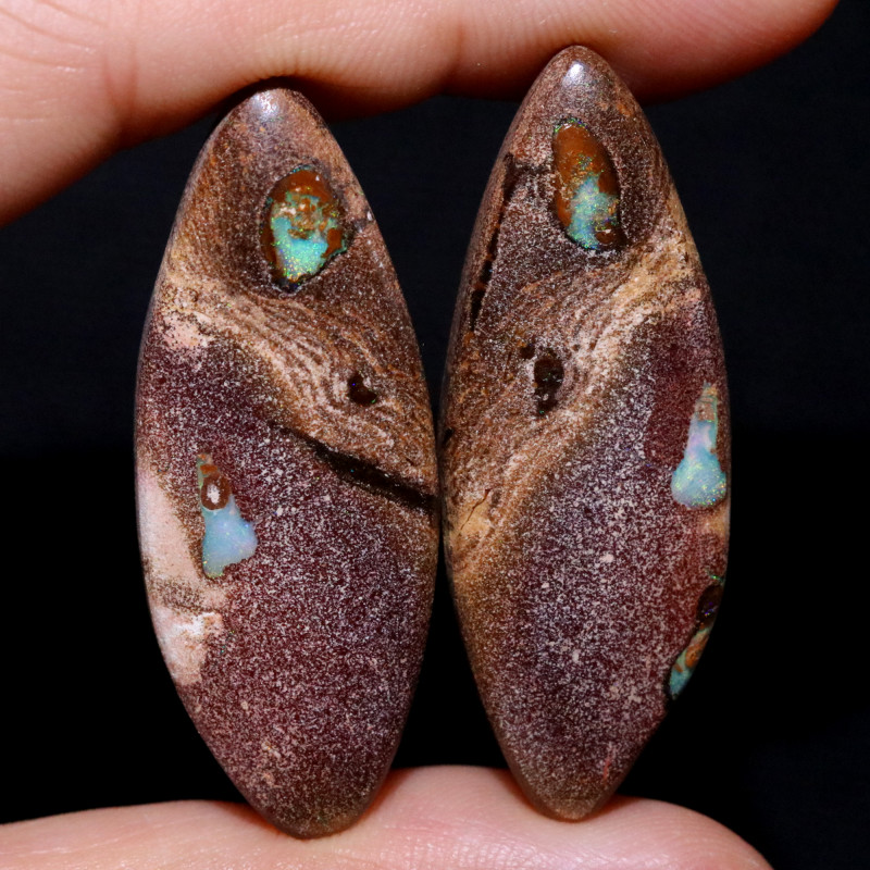 56.41 CTS WELL POLISHED PAIR YOWAH STONES [FJP3730]