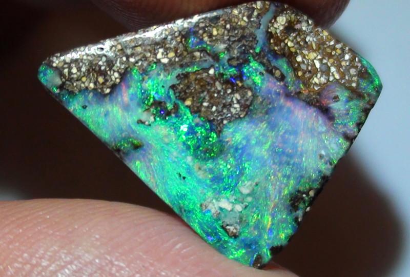 8.05 ct$1 NR Beautiful Gem Multi Color Natural Queensland Boulder Opal