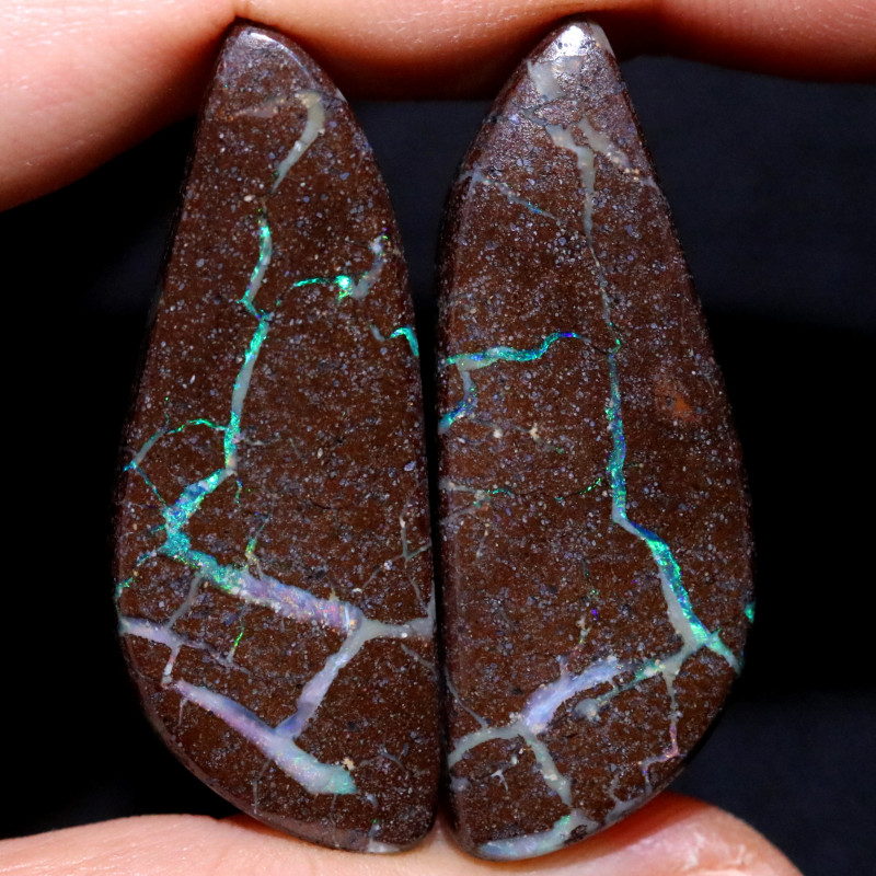 49.91 CTS BOULDER PAIR-WELL POLISHED  [FJP3761]