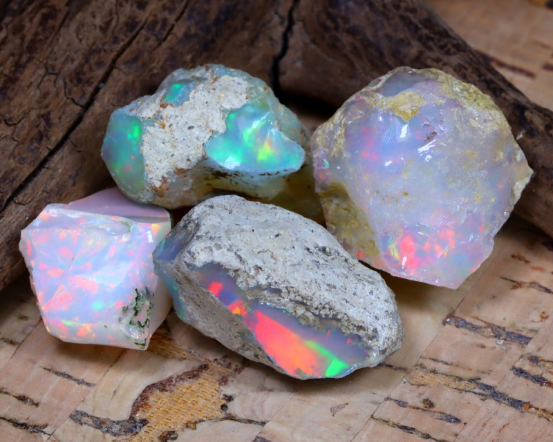Welo Rough 50.41Ct Natural Ethiopian Play Of Color Rough Opal F0905