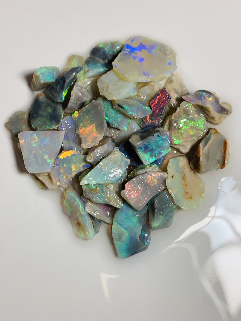 LOAD OF COLOURS- 60 CTS BRIGHT MULTICOLOUR ROUGH #1368