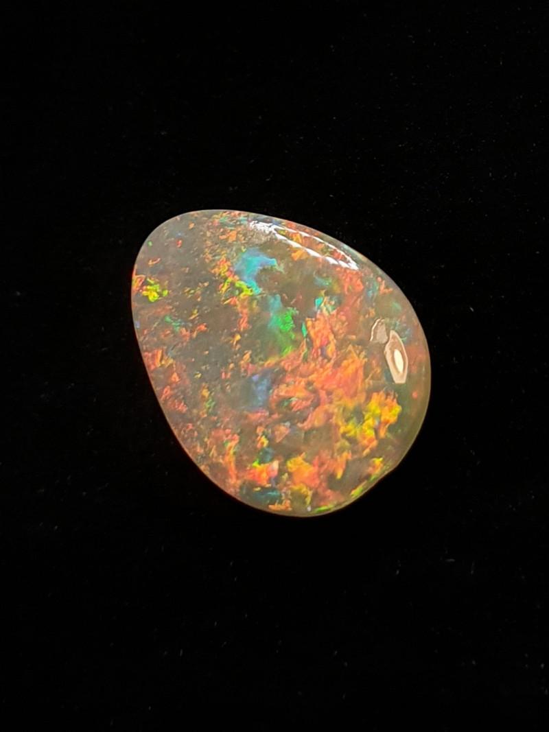 Australian Solid Light Opal, Lightning Ridge. Polished Gemstone