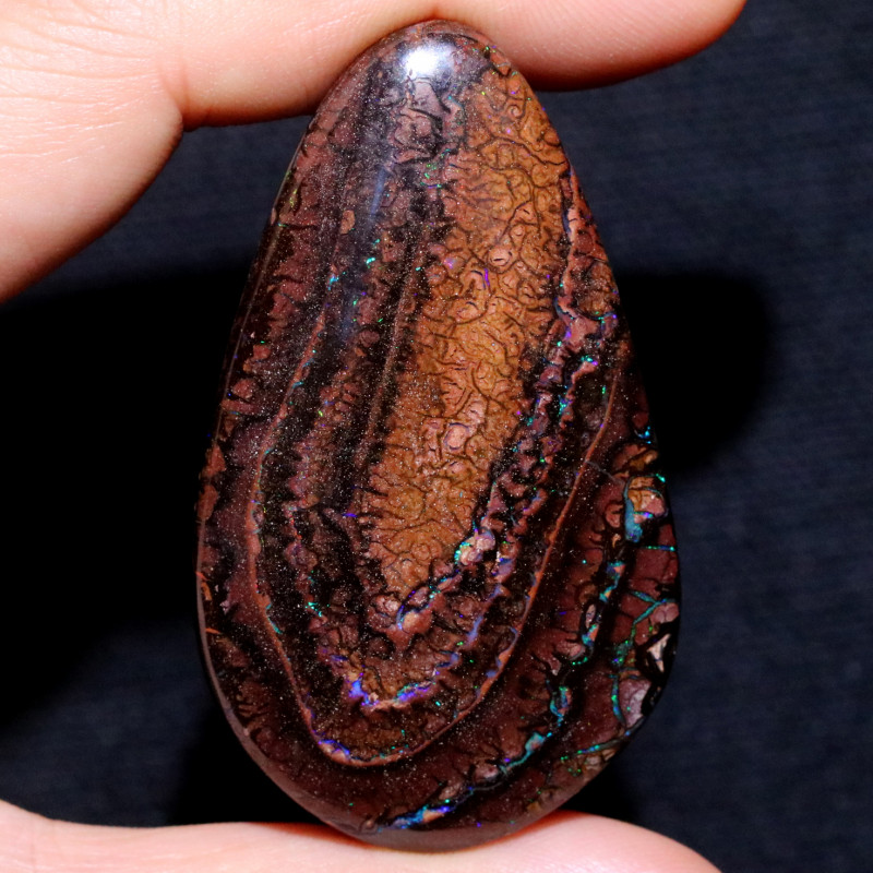 155.58 CTS DOUBLE SIDE STUNNING BOULDER OPAL FROM KOROIT [BMB196]
