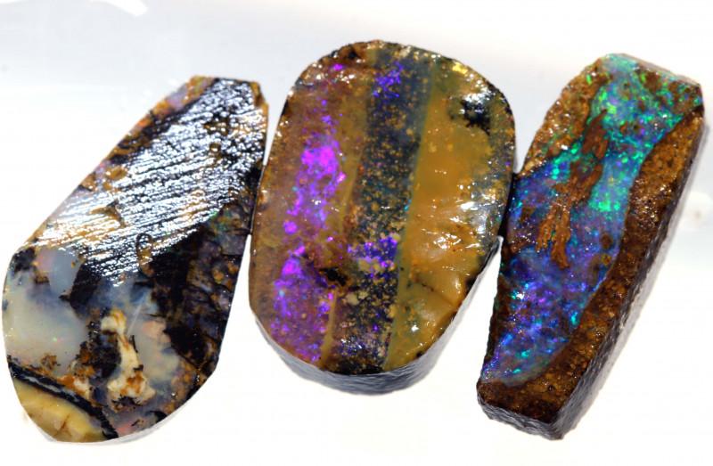 19.60 cts   Boulder opal rub parcel    ADO-5434