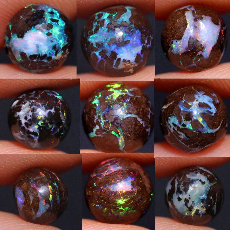 23.32 CTS HALF DRILLED BOULDER OPAL -FOR RINGS  [BMB206]