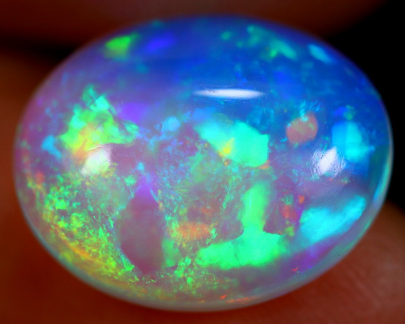 4.11cts Natural WATER BLUE TOP Ethiopian Welo Opal / BF3566