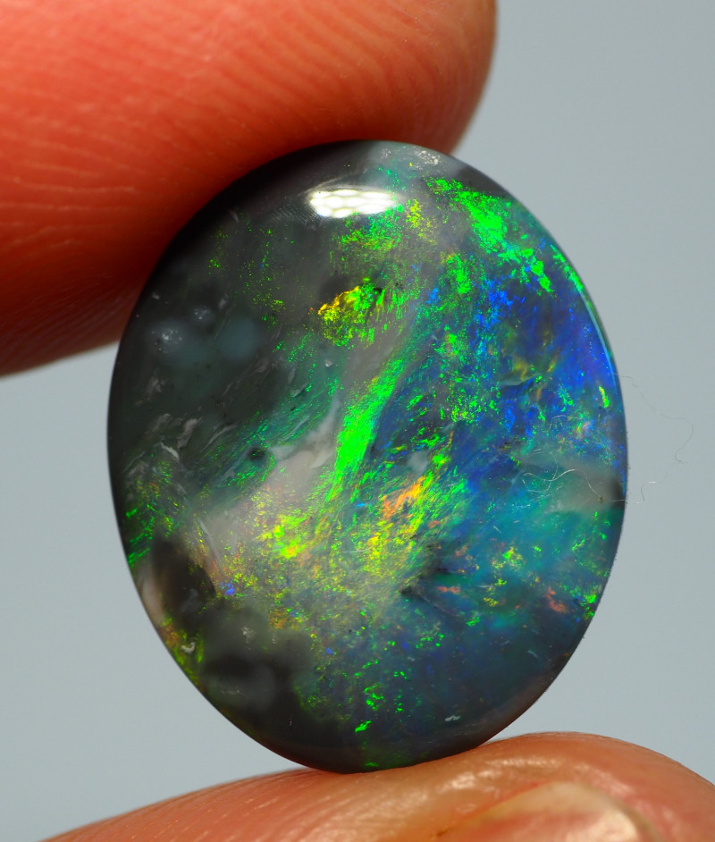 4.70CT BLACK OPAL  LIGHTNING RIDGE RE896