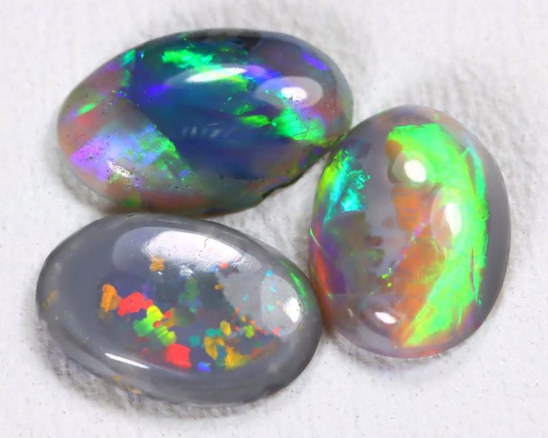 1.26Cts Australian Lightning Ridge Dark Crystal Opal Parcel Lot ES0022