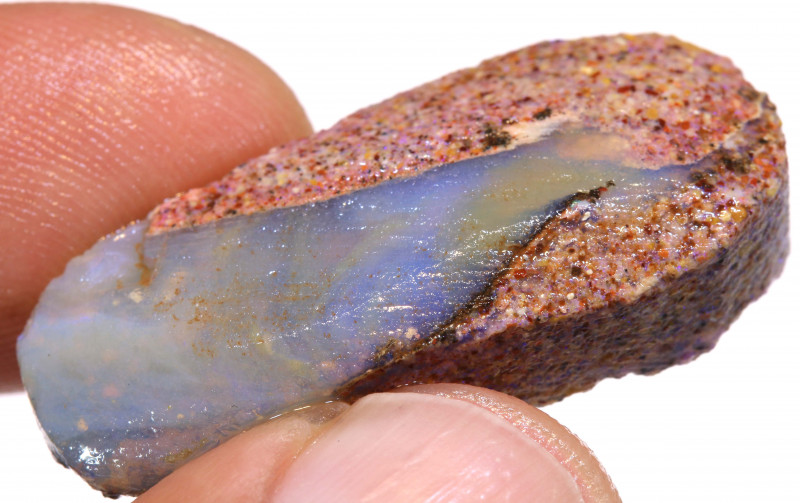 32.80CTS BOULDER OPAL PIPE PREFINISHED RUB ADO-5452