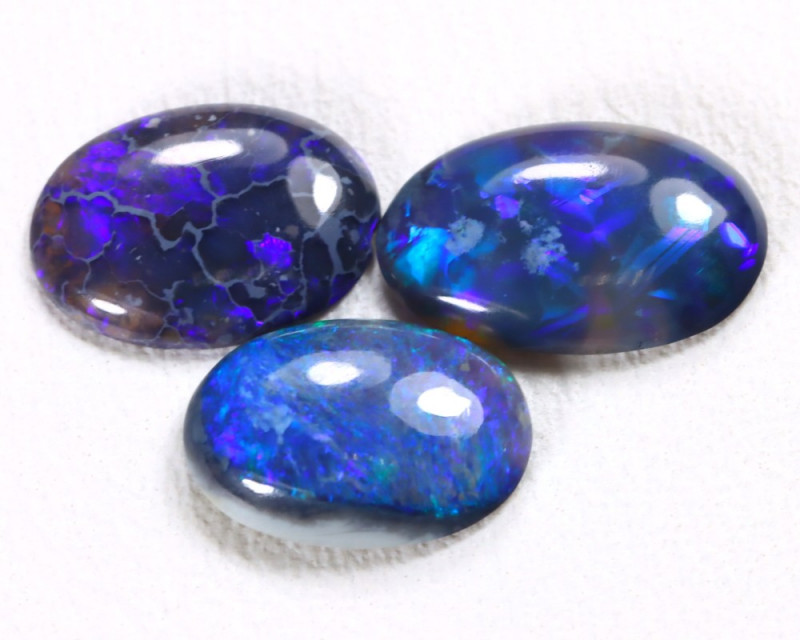 N3 2.03Cts Australian Lightning Ridge Black Crystal Opal Parcel Lot ES0063