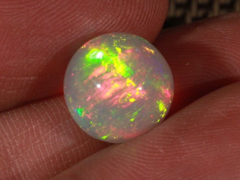 7.51CT~STUNNING ETHIOPIAN WELO OPAL SPHERE~INSANE FULL SATURATION OF FIRE!