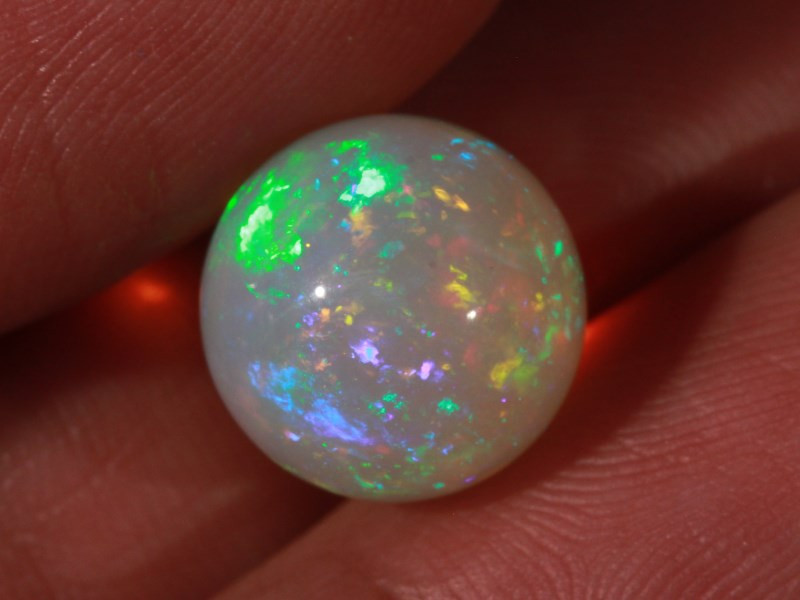 7.88CT~STUNNING ETHIOPIAN WELO OPAL SPHERE~INSANE FULL SATURATION OF FIRE!