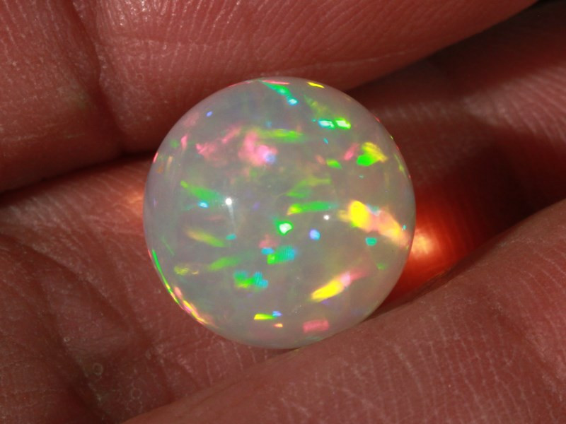 8.26CT~STUNNING ETHIOPIAN WELO OPAL SPHERE~INSANE FULL SATURATION OF FIRE!