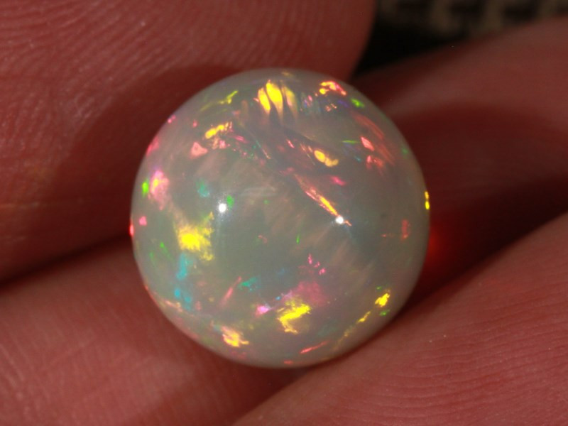 9.24CT~BRILLIANT 5/5 DARK BASE WELO OPAL SPHERE~FULL SATURATION OF FIRE!!!
