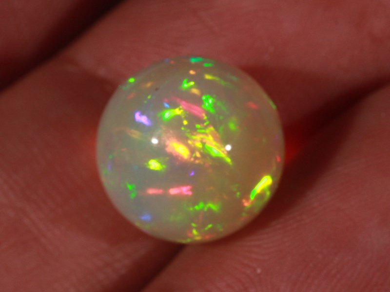 9.96CT~STUNNING ETHIOPIAN WELO OPAL SPHERE~INSANE FULL SATURATION OF FIRE!