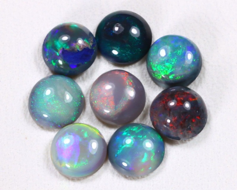 Calibrate 5.3mm 3.00Cts Lightning Ridge Black Opal Parcel Lot ES0178
