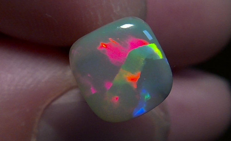 1.97ct Lighting Ridge Solid Opal Muitiple Gem colors
