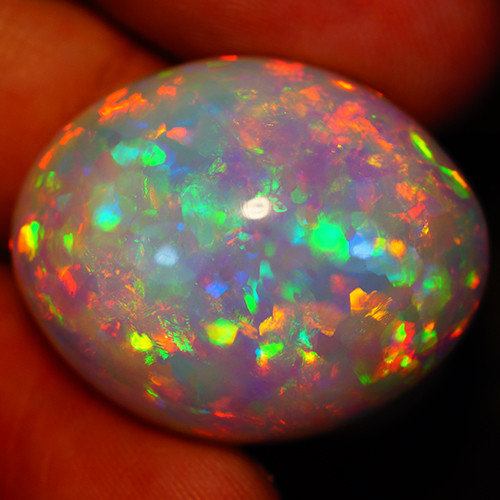 43.30 CT Patchwork pattern! Natural White Base! Welo Ethiopian Opal-MA75
