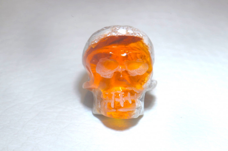 20.24ct Skull Mexican Cantera Multicoloured Fire Opal