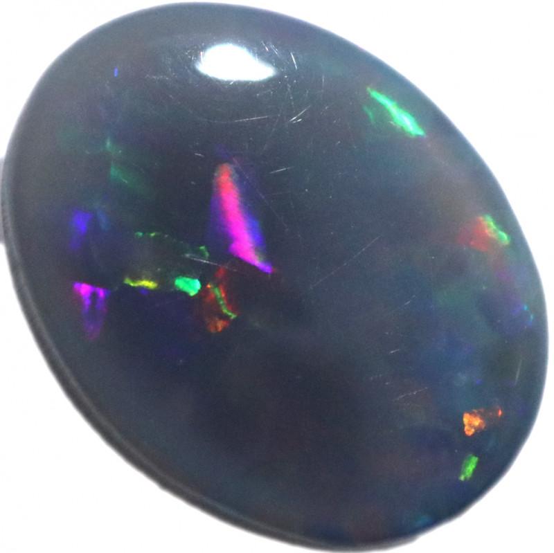 1.07 CTS BLACK OPAL STONE-MYSTERIOUS -FROM LIGHTNING RIDGE 7- [LRO1345]