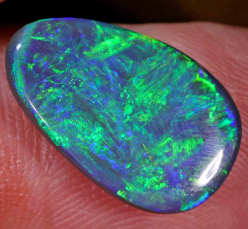 8.63 CT BLACK OPAL FROM LR-LOVELY STONE-GREAT BODY