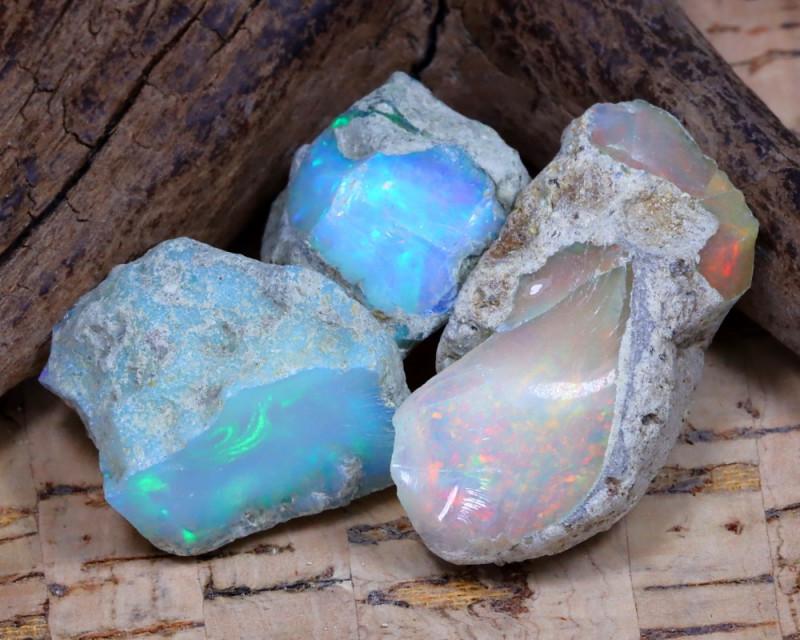 33.00Ct Bright Color Natural Ethiopian Welo Opal Rough DT0328