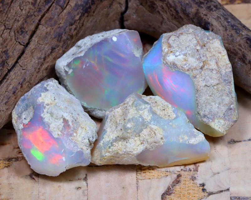 31.43Ct Bright Color Natural Ethiopian Welo Opal Rough DT0330