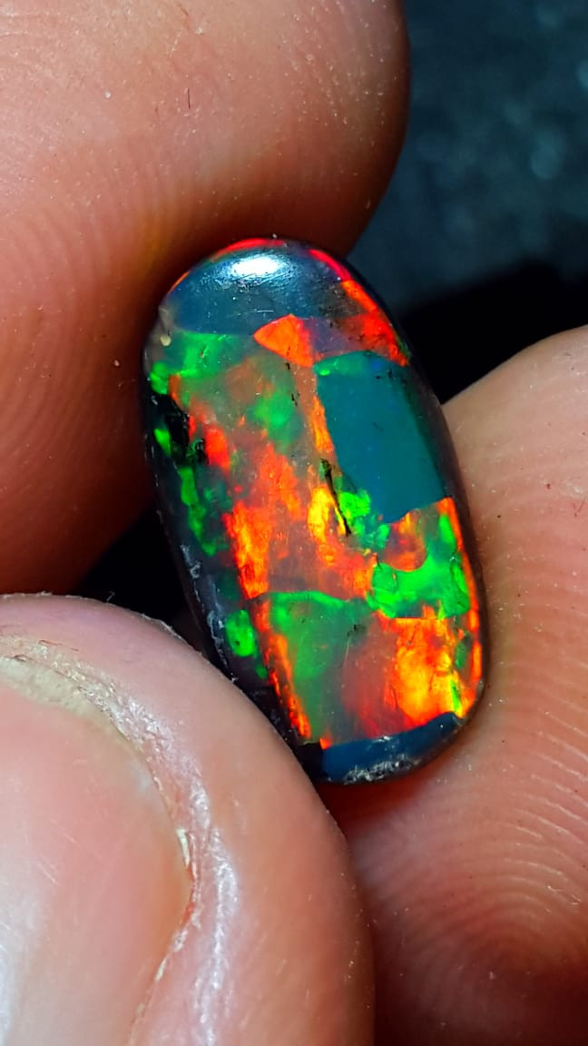 3.00 CRT NEON COLOR FLASH SPECIMENT INDONESIAN OPAL WOOD FOSSIL