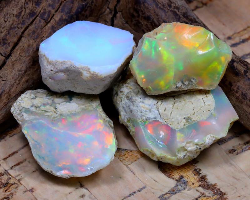 35.34Ct Bright Color Natural Ethiopian Welo Opal Rough DT0345