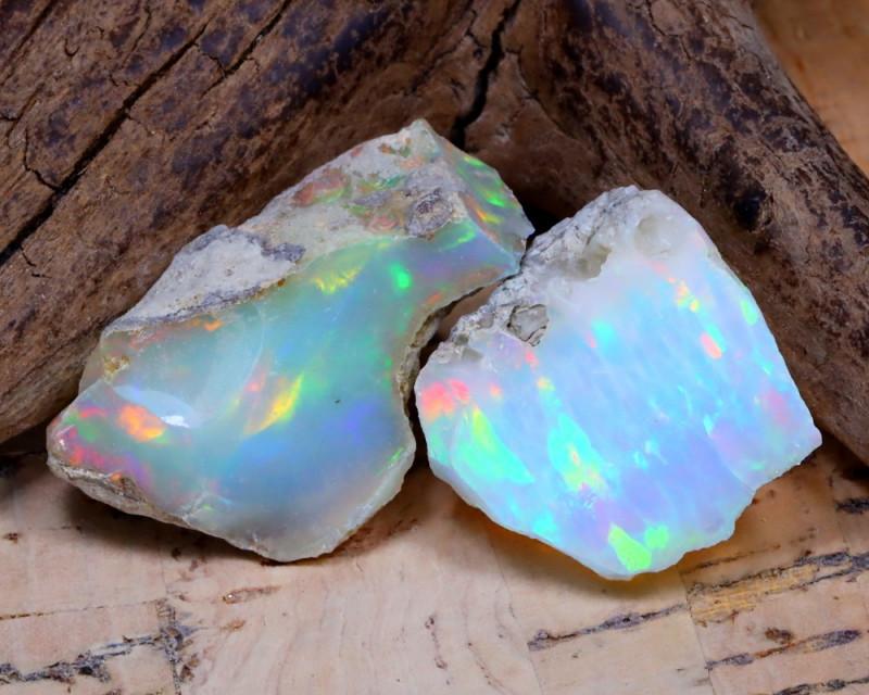 16.23Ct Bright Color Natural Ethiopian Welo Opal Rough DT0352