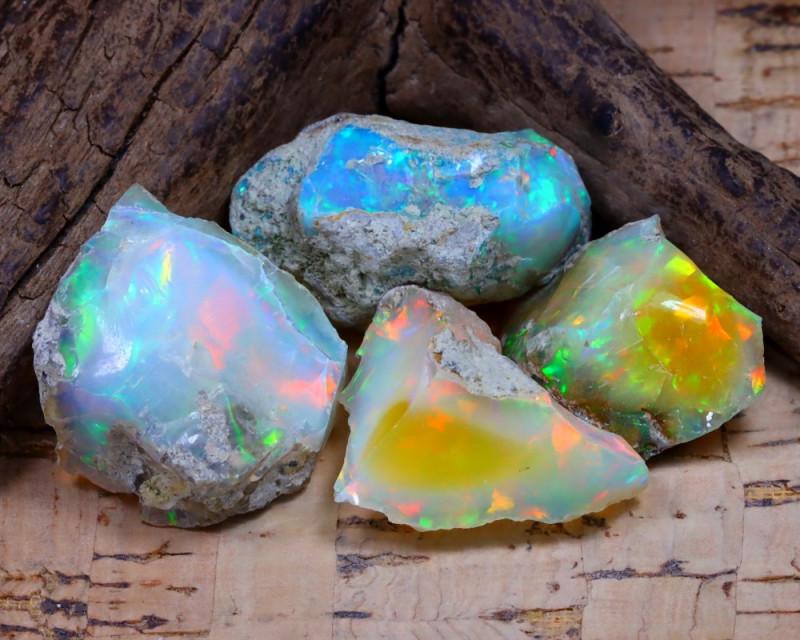 46.84Ct Bright Color Natural Ethiopian Welo Opal Rough DT0371