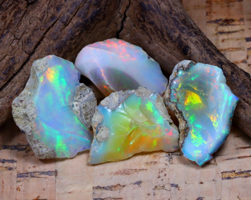 31.82Ct Bright Color Natural Ethiopian Welo Opal Rough DT0374
