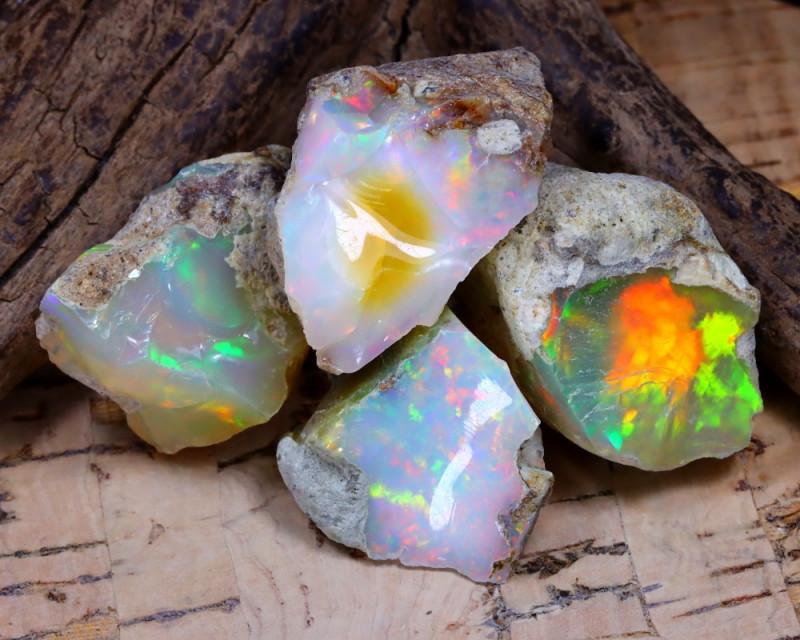 52.07Ct Bright Color Natural Ethiopian Welo Opal Rough DT0381