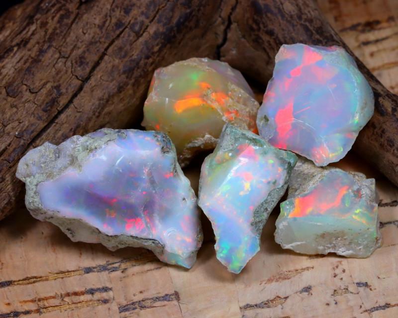 46.68Ct Bright Color Natural Ethiopian Welo Opal Rough DT0386
