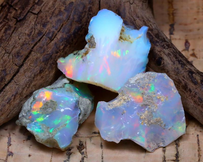 29.84Ct Bright Color Natural Ethiopian Welo Opal Rough DT0402