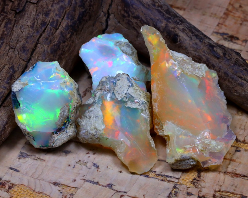 39.57Ct Bright Color Natural Ethiopian Welo Opal Rough DT0407