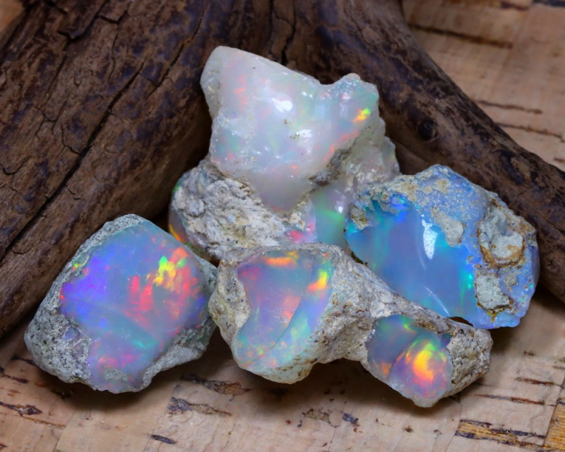41.36Ct Bright Color Natural Ethiopian Welo Opal Rough DT0412