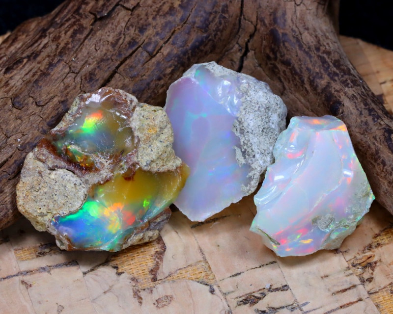 Welo Rough 33.26Ct Natural Ethiopian Play Of Color Rough Opal D2702