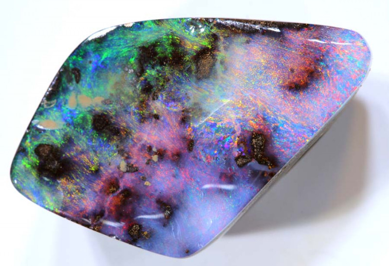 22.21 cts   Drilled Boulder Opal cut stone TBO-A1994