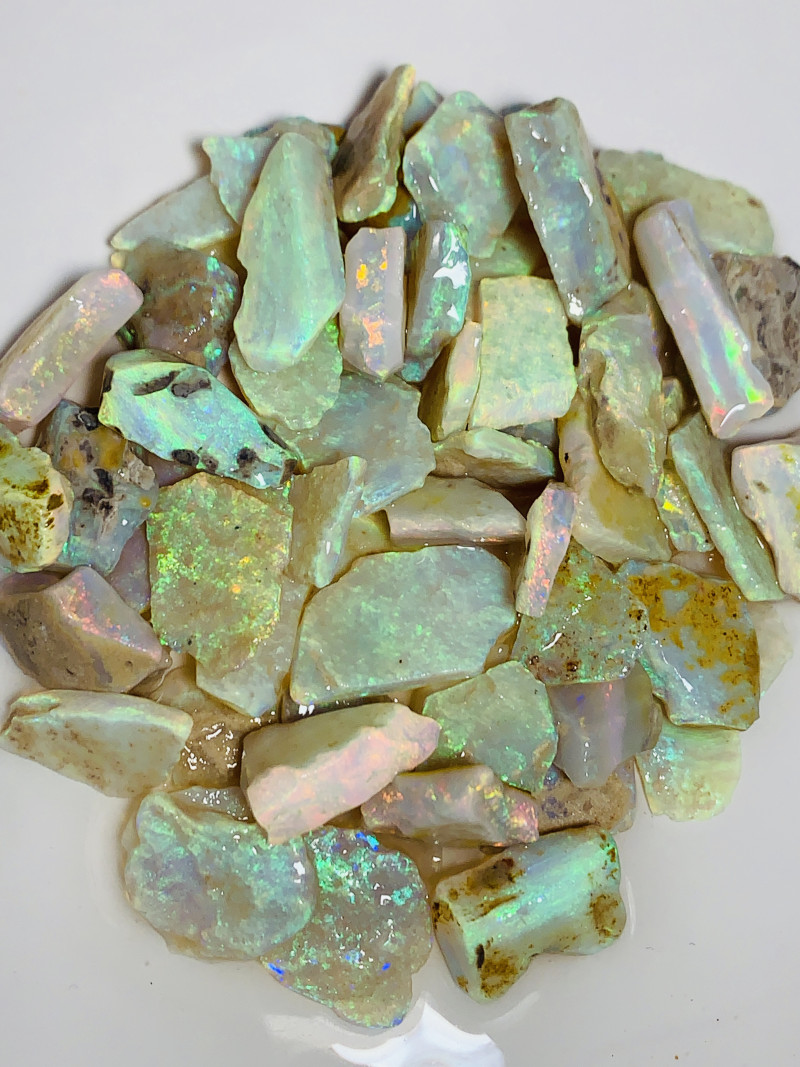 AAA+ Grade Rough Crystal Seam Opals- Super Top Material to Cut