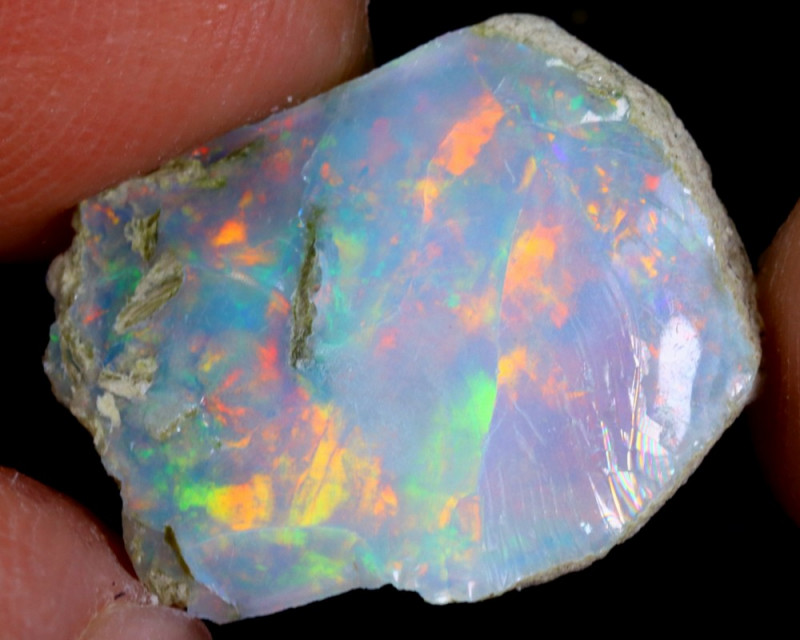 6cts Natural Ethiopian Welo Rough Opal / WR4124