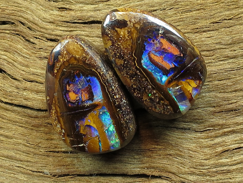 20cts, YOWAH NUT OPAL PAIR~FROM OUR MINES!!