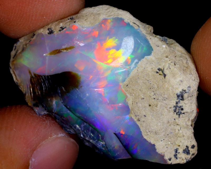 21cts Natural Ethiopian Welo Rough Opal / WR4169